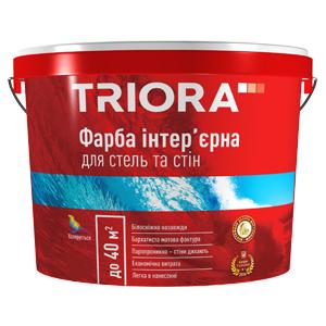 Інтер'єрна фарба для стін і стель 2,5л ТRІОRА