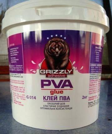 Клей ПВА 2,0 кг GRIZZLY, фото 2