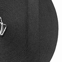 Тесьма репсовая 20мм цв черный (уп 50м) р.2349 Укр-з