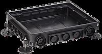 Коробка напольная ONFLOOR 16 модулей IEK (KNU-80-16-PA-9011)