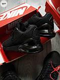 Мужские кроссовки Air Max 270 Cauchuk Flair Total Black, фото 3