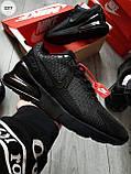 Мужские кроссовки Air Max 270 Cauchuk Flair Total Black, фото 6