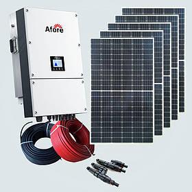 30 кВт солнечная сетевая электростанция под ключ Зеленый тариф Монокристаллические панели RundaSolar Крыша