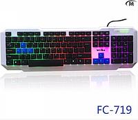 Игровая клавиатура с цветной подсветкой Weibo USB FC-719
