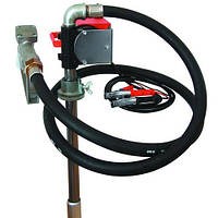 Насос для перекачки и заправки (раздачи) дизельного топлива из бочки или бака PTP 24В, 40 л/мин, фото 1
