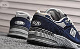 Мужские кроссовки New Balance 991 Blue, фото 3