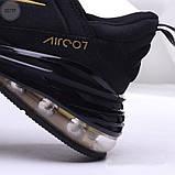Мужские кроссовки Nike Air 270 Black/Gold, фото 3