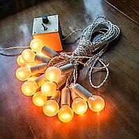 РЕТРО ГИРЛЯНДА 3 метра 7 ламп белый цвет, Ретро гирлянды из ламп накаливания!!!