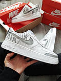 Мужские кроссовки Nike Air Force 1 Low Under Construction White/Grey, фото 7