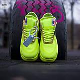 Мужские кроссовки Nike Air Force Х Оff-Whіte green, фото 2