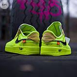 Мужские кроссовки Nike Air Force Х Оff-Whіte green, фото 3