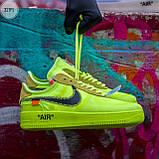 Мужские кроссовки Nike Air Force Х Оff-Whіte green, фото 4