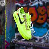 Мужские кроссовки Nike Air Force Х Оff-Whіte green, фото 5