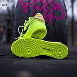Мужские кроссовки Nike Air Force Х Оff-Whіte green, фото 6