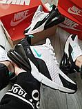 Мужские кроссовки Nike Air Max 270 White/Blue, фото 5