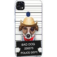 Силиконовый чехол с рисунком для ZTE Blade 20 Smart Bad Dog