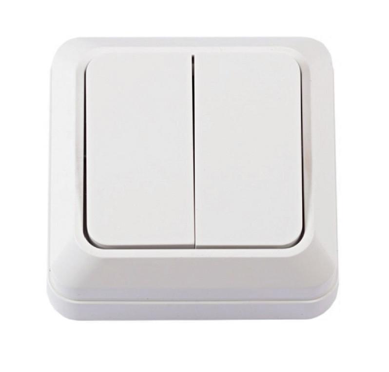 Выключатель наружной установки 2-кл. белый IP20 TNSy (TNSy5000059)