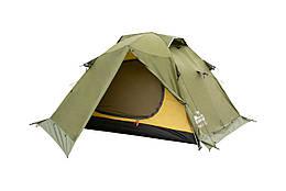 Намет Tramp Peak 3 м, TRT-026-green. Палатка туристична 3 місна. Намет туристичний