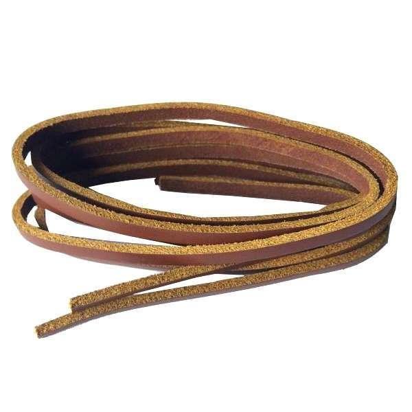 ✅ Светло-коричневые кожаные шнурки для обуви MAVI STEP Cologne, 120 см