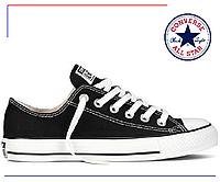 Черные низкие кеды Converse All Star low Black (конверс, черные) женские и мужские / 1 в 1 с оригиналом