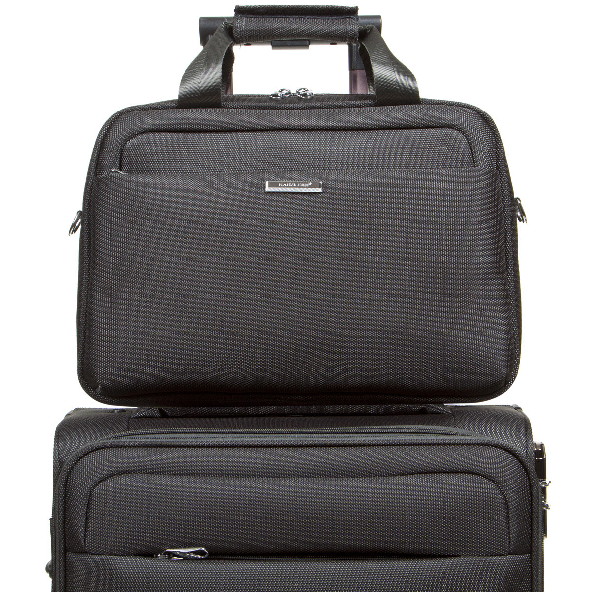 Універсальна дорожня сіра сумка-бьютик BagHouse з кріпленням на ручку валізи 38х29х15 ксГЦ868сер