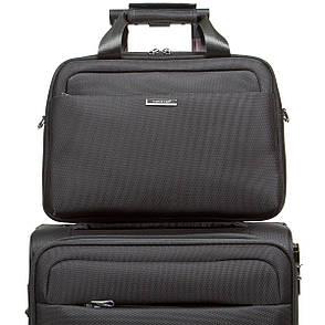Універсальна дорожня сіра сумка-бьютик BagHouse з кріпленням на ручку валізи 38х29х15 ксГЦ868сер, фото 2