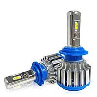 Комплект LED ламп для авто Ближний/Дальний TurboLED T1 H7, светодиодные лампы в авто, передний свет
