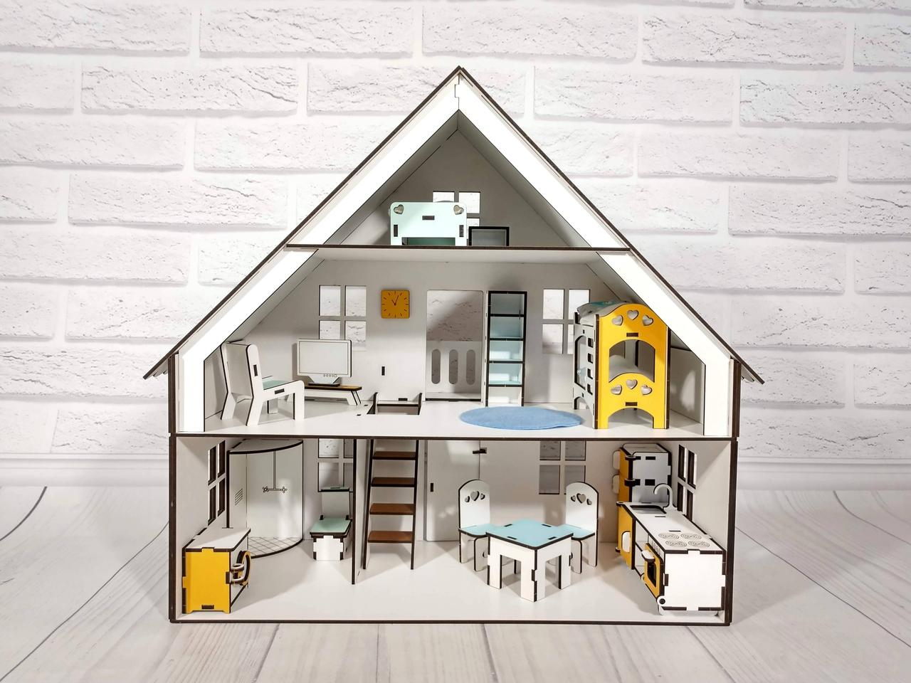 Баварский домик для кукол с мебелью и текстилем