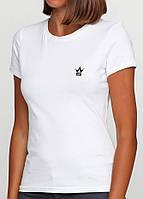 Однотонная женская футболка, фото 1