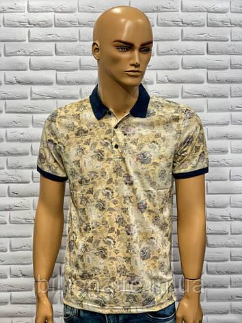 Стильна молодіжна футболка з коміром Жовтий, фото 2
