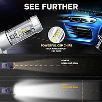 Комплект LED ламп для авто Ближний/Дальний TurboLED X3 H11, светодиодные лампы в авто, передний свет