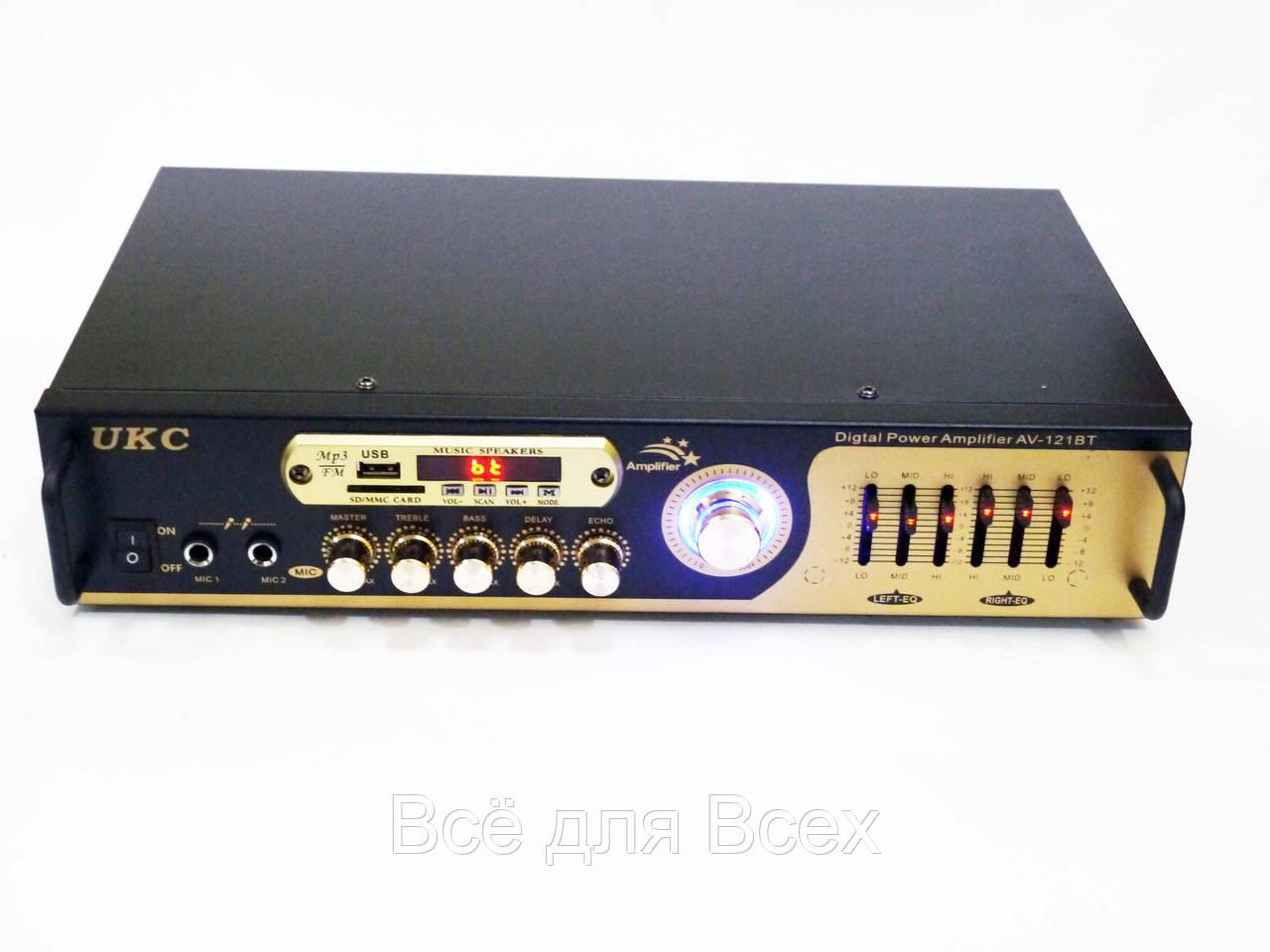 Купить Усилители звука, Усилитель звука UKC AV-121BT Bluetooth USB + караоке 2 микрофона