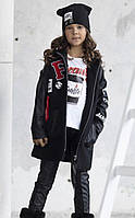 Детская куртка для девочки Верхняя одежда для девочек MalaMi Польша 949 Черный