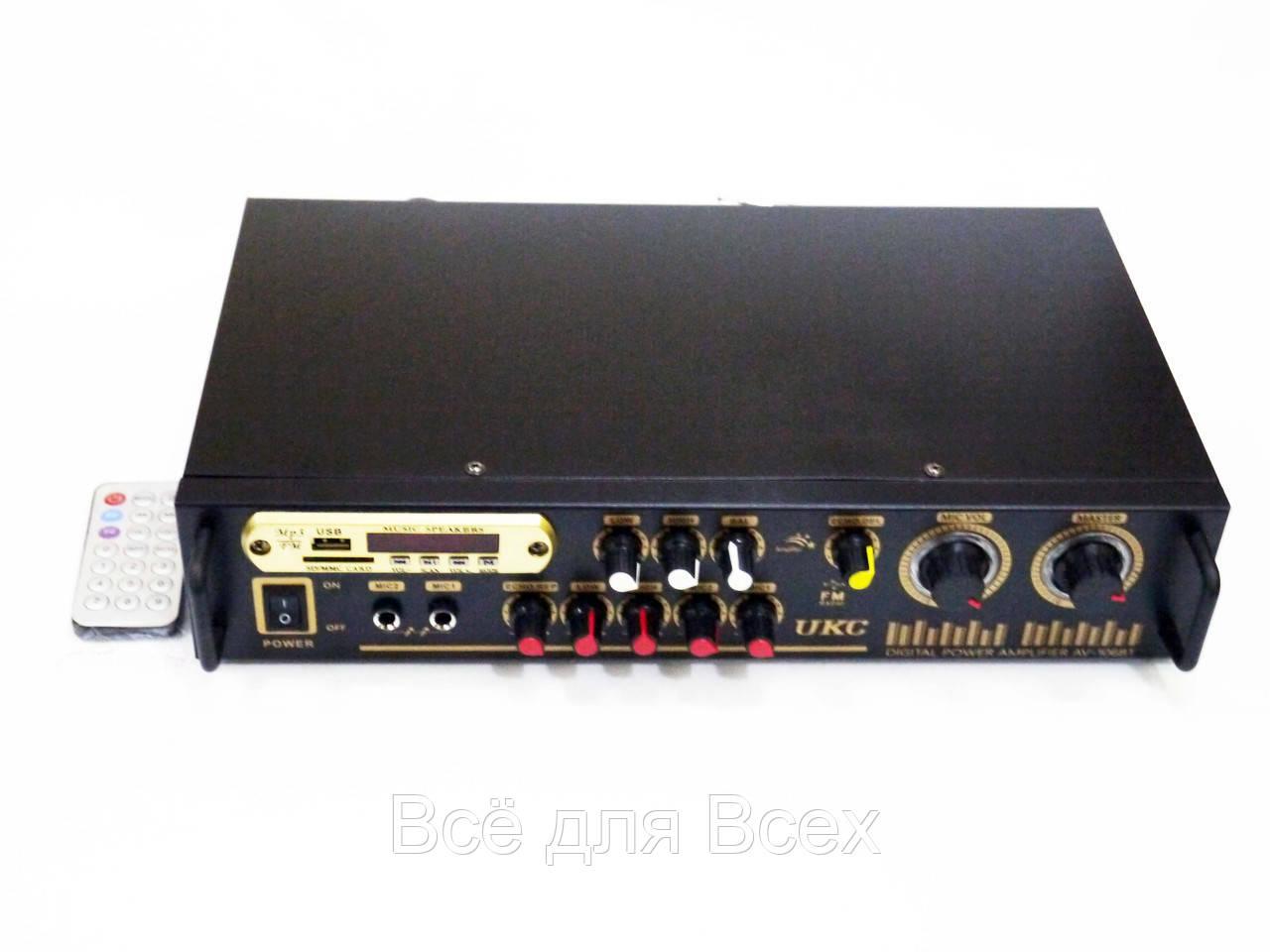 Купить Усилители звука, Усилитель звука UKC AV-106BT Bluetooth USB + караоке 2 микрофона