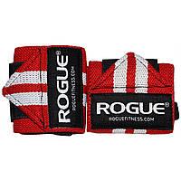 Кистевые бинты Rogue Wrist Wraps Red-White (стандартная жесткость)