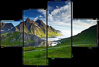 Модульная картина Вид на лагуну 126*85 см Код: W595M