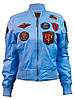 Женский бомбер Miss Top Gun MA-1 jacket with patches TGJ1573P-S (Light Blue)