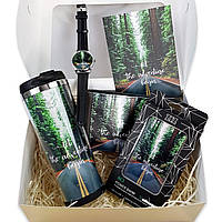 Подарочный набор ZIZ Время приключений: Повербанк, Термокружка, Часы, Открытка