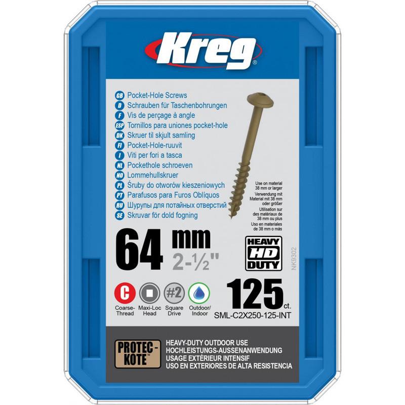 Саморезы для Kreg Jig® HD, длина 63,5 мм, 125 шт
