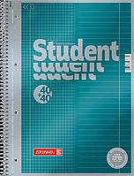 Тетрадь колледж-блок Brunnen А4 на спирали два в одном линейка/клетка 80 листов 90 г/м2 обложка бирюзовый