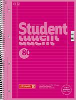 Тетрадь колледж-блок Brunnen А4 на спирали в линейку 80 листов 90 г/м2 Colour Code обложка розовая
