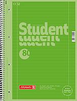 Тетрадь колледж-блок Brunnen А4 на спирали в линейку 80 листов 90 г/м2 Colour Code обложка киви