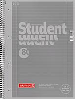Тетрадь колледж-блок Brunnen А4 на спирали в линейку 80 листов 90 г/м2 Colour Code обложка серебро