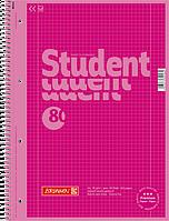 Тетрадь колледж-блок Brunnen А4 на спирали в клетку 80 листов 90 г/м2 Colour Code обложка розовая