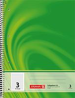 Тетрадь колледж-блок Brunnen А4 на спирали в линейку 80 листов 90 г/м2 обложка зеленая