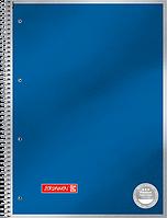Тетрадь колледж-блок Brunnen А4 на спирали в линейку 80 листов 90 г/м2 обложка синяя без декора