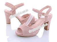 """Босоножки женские 18-2 pink (6 пар р.33-37) """"Mei De Li"""" TK-1117-1118"""