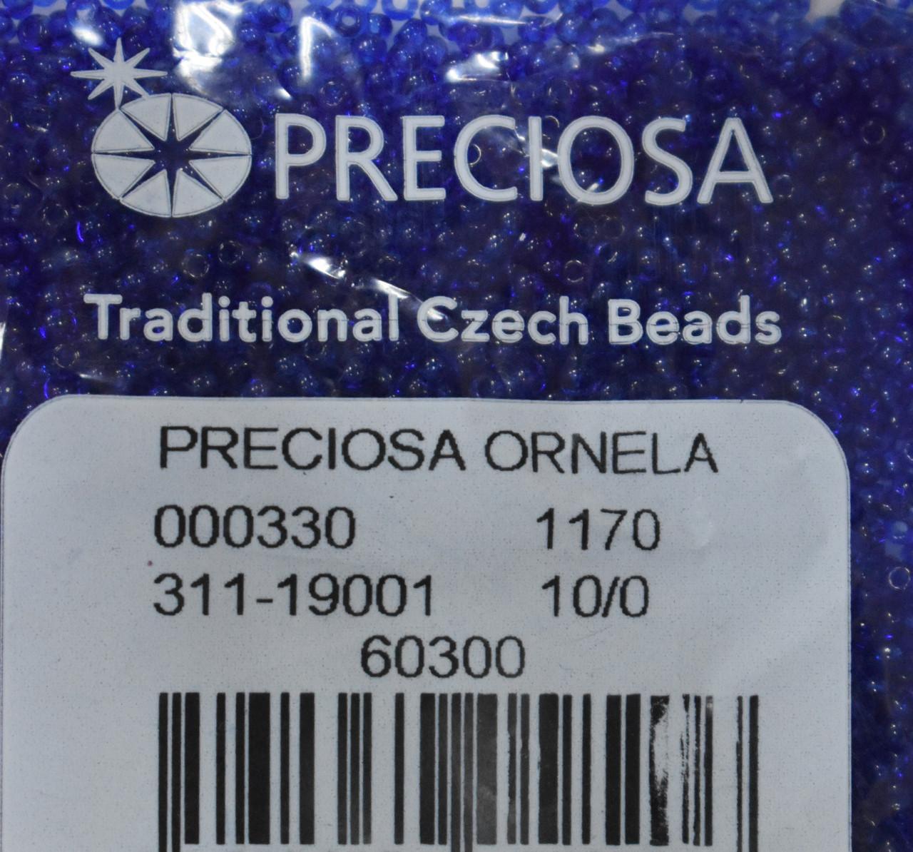 Бисер Preciosa 10/0 цвет 60300 синий 10г