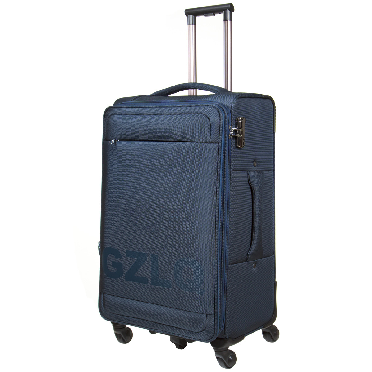 Чемодан BagHouse большой синий с расширением   45х78х31(+3)  ксГЦ868синв