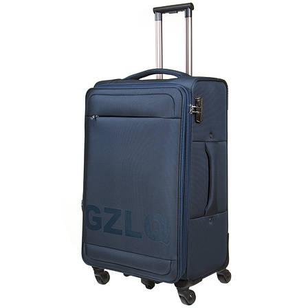 Чемодан BagHouse большой синий с расширением   45х78х31(+3)  ксГЦ868синв, фото 2